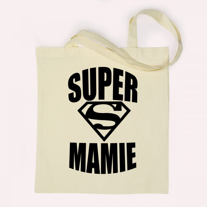 Tote bag super mamie superman