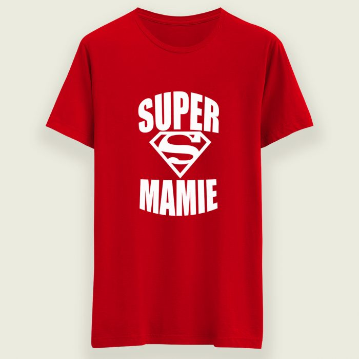 T-shirt super mamie superman