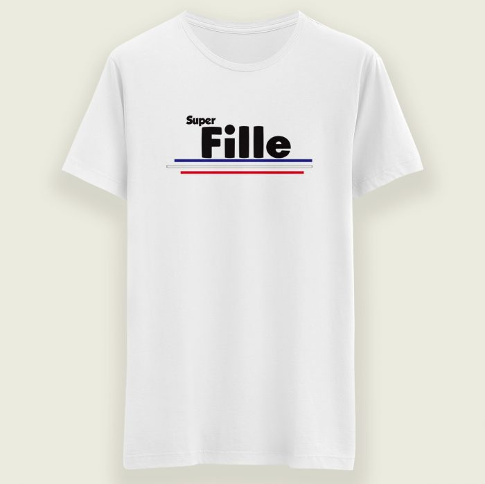 t-shirt super fille